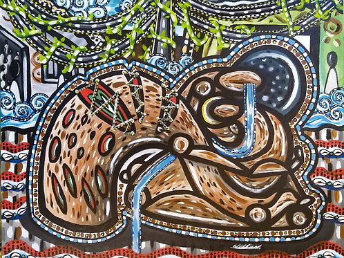 A mãe que chora - 50 x 60 cm - por Wadson Silva