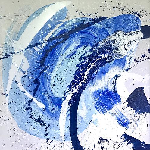 Oceano - 100x 100 cm - por Dado Cavalcanti