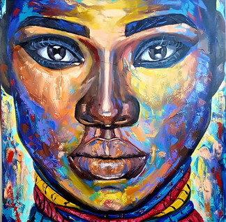 Juliana Lavoura-Zimbabwe woman-100x100cm