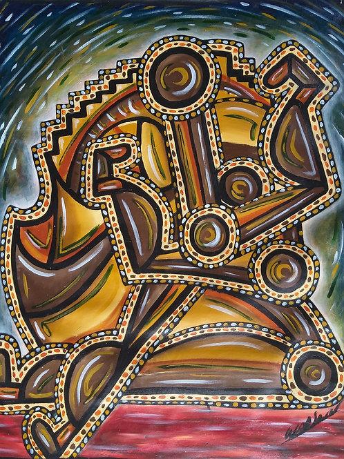 Sem Contato - 100 x 80 cm - por Wadson Silva