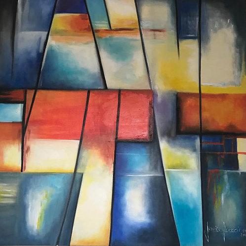 Sem titulo - 100 x 100 cm - por Junice Pereira