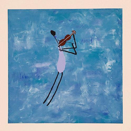 O Violenista - 50 x 50 cm - por Gleison Castro