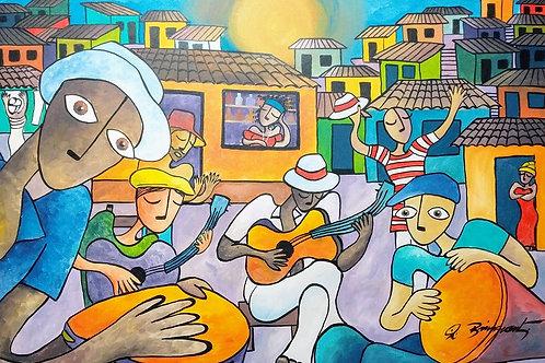 Roda de Samba - 100 x 70 cm - Andre Bringuenti