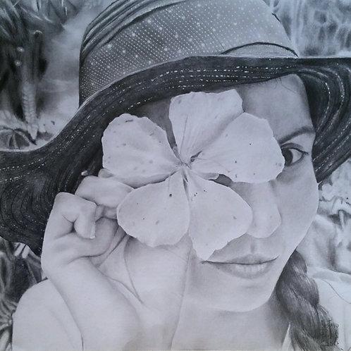 Garota de Chapéu -29,7 x 29,7 cm - por Gustavo Pauluk