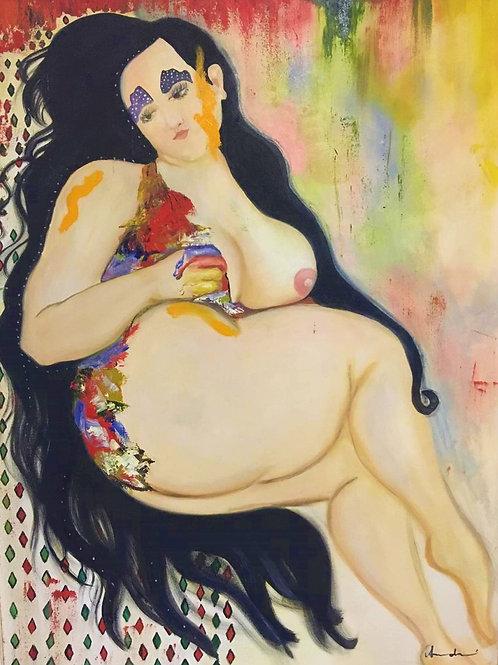 Madalena - 80 x 60 cm - por Amanda Lutiere