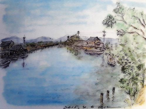A city with a Waterside II - 10 x 15 cm - por Motonori Nakamura
