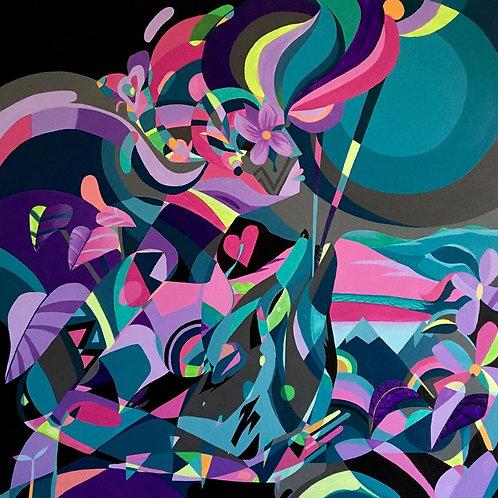 Caçador de ilusões - 100 x 100 cm - por Jotape Pax