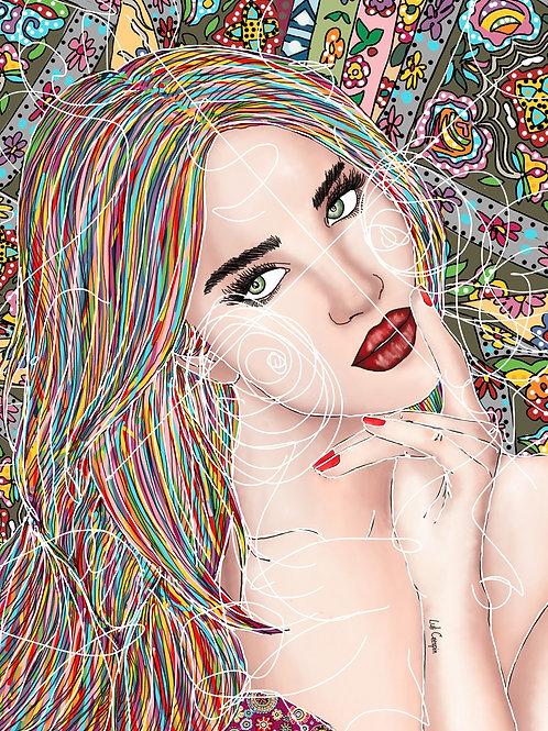 Priscilla - 123 x 90 cm - por Luli Crespin