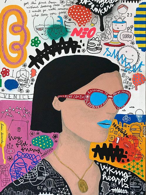 """""""Jilly Bean Carter """" -70 x 50 cm - por Lucas Lamenha"""