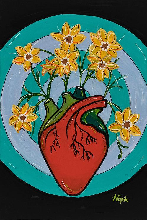 Coração Florido 2 - 60 x 40 cm- por A. Grilo