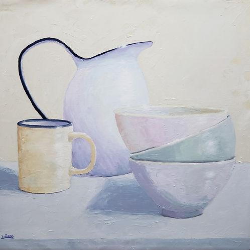 Cafe da manhã - 60 x 60 cm - por Luciano Costa