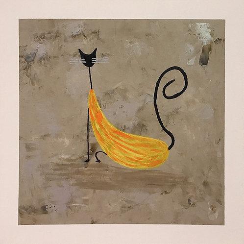 O Gato - 40 x 40 cm - por Gleison Castro