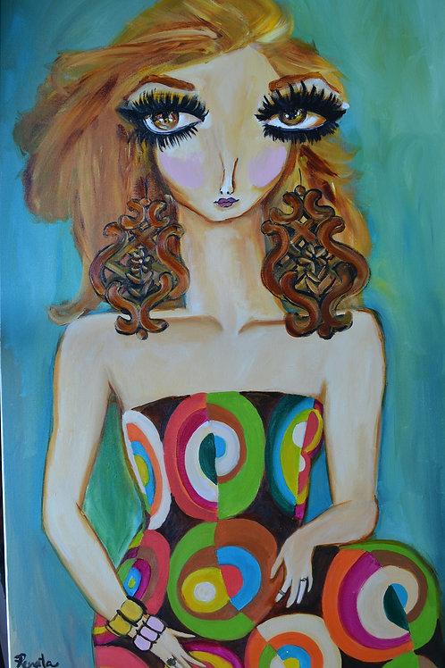 Retrato de Giulia - 100 x 70 cm - por Renata Cabral