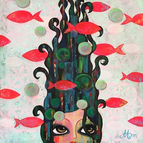 Under the surface - 100 x 100 cm - por Maria Alm