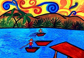 Cristian Araujo- Os Pescadores- 50X70- A