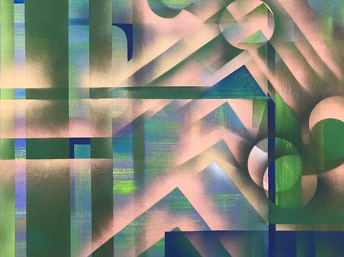Cobre Verde I - 65 x 74cm - por Luciana D'angelo
