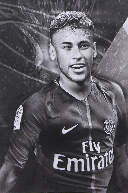 Jogador NeymarJR A3 297 x 420 mm - por José Augusto