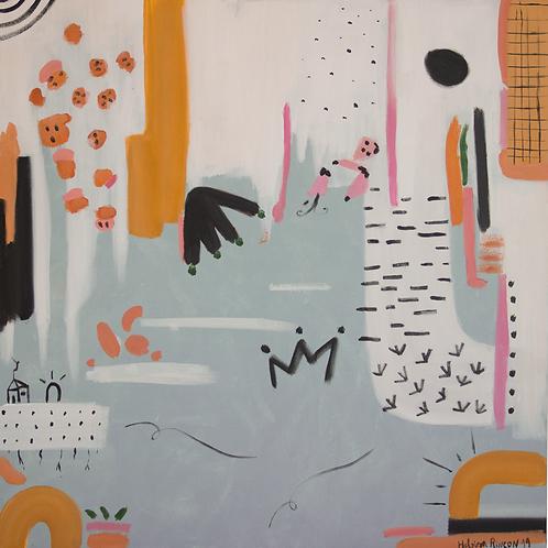 Joy - 80 x 80 cm - por Helô Rincon