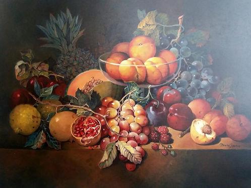 Frutas Variadas - 60 x 80 cm - por Cleusa Soares