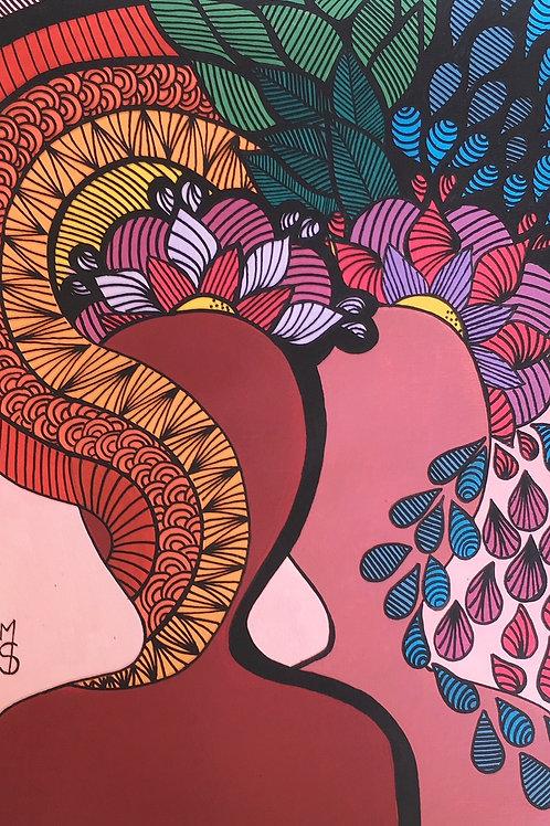 Irmãs de alma -29,7 x 21 cm - por Márcia Chagas Duque