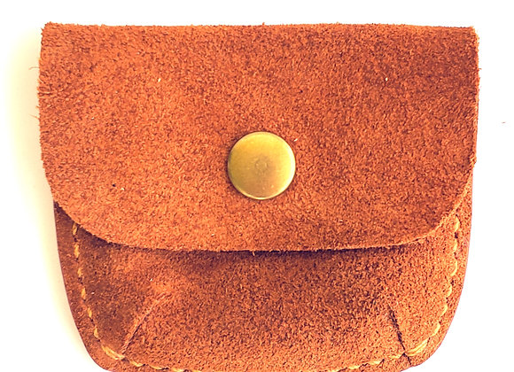 Suede Coin Pouch
