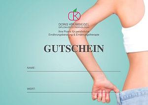Ernährungsberatung Hamburg, Doris Krumbiegel, Geschenk, Gutschein, Gesundheit, Geschenk-Gutschein