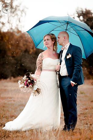 Hochzeitsshooting im Regen