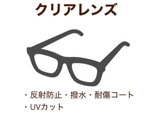伊達メガネ用クリアレンズ