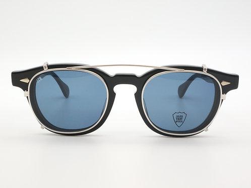 JULIUS TART OPTICAL AR 46 クリップオンサングラスcol.Silver/Blue Lens