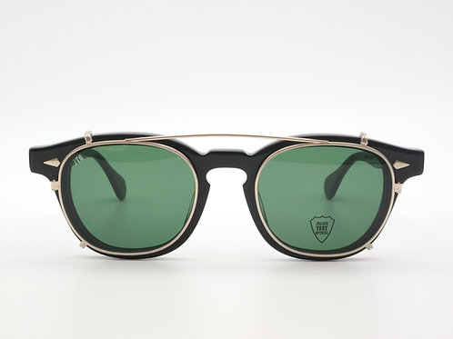 JULIUS TART OPTICAL AR 46 クリップオンサングラスcol.Gold/Green Lens