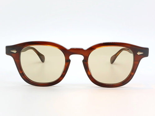 JULIUS TART OPTICAL AR 46-22 col.Demi Amber/Light Brown 3curve