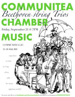 Communitea Chamber Music Poster - Sept 2