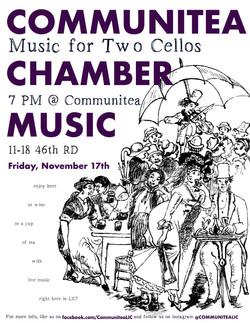 Communitea Chamber Music Poster - Novemb