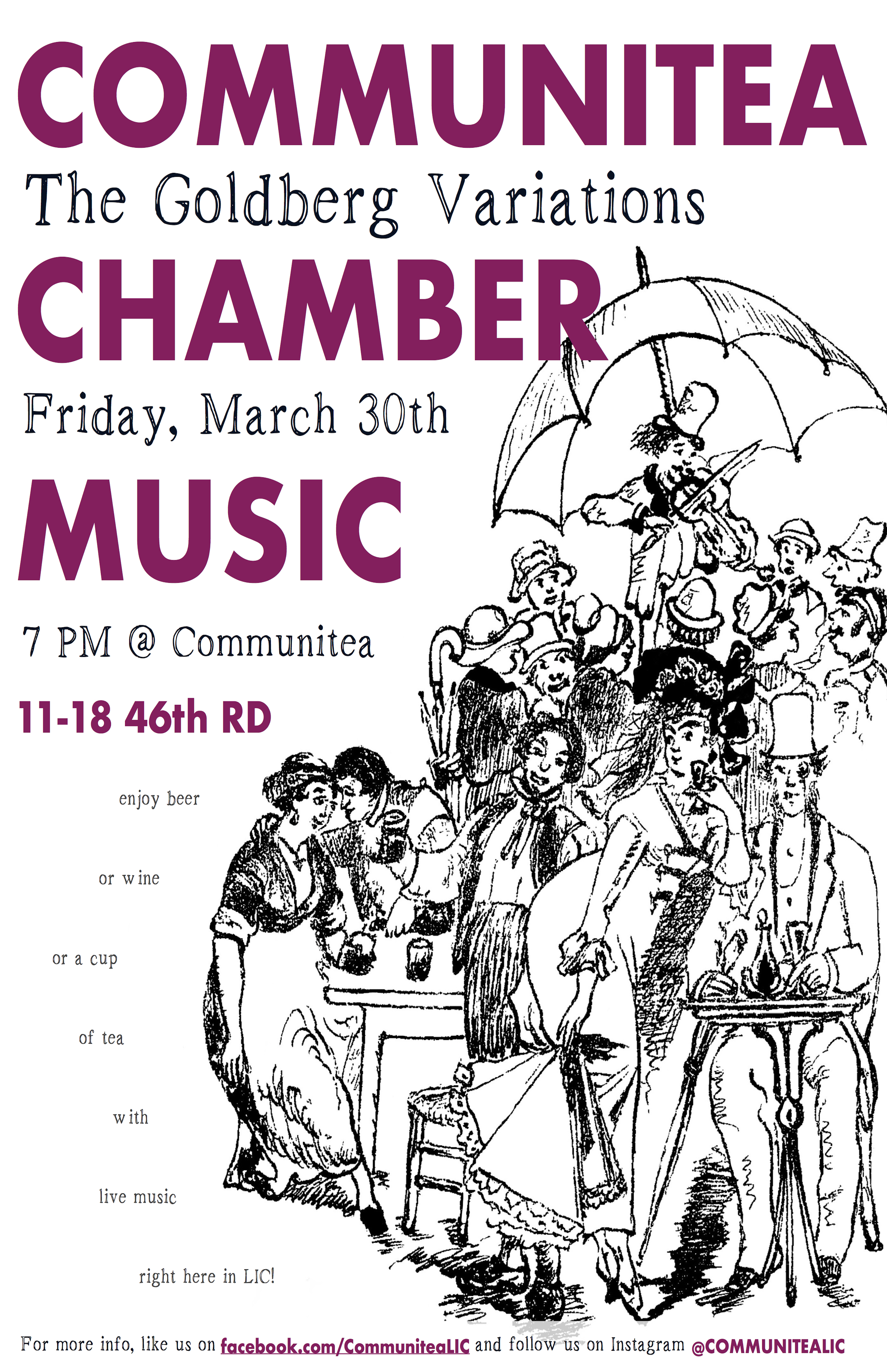 Communitea Chamber Music Poster - March.