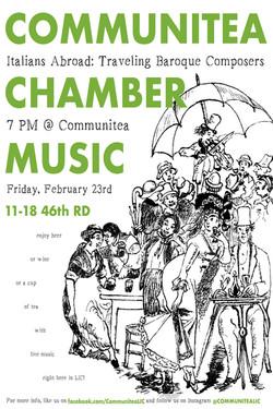 Feb Communitea Chamber Music Poster - Ve