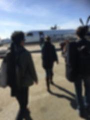 Musikanten Musicians flying to Montana