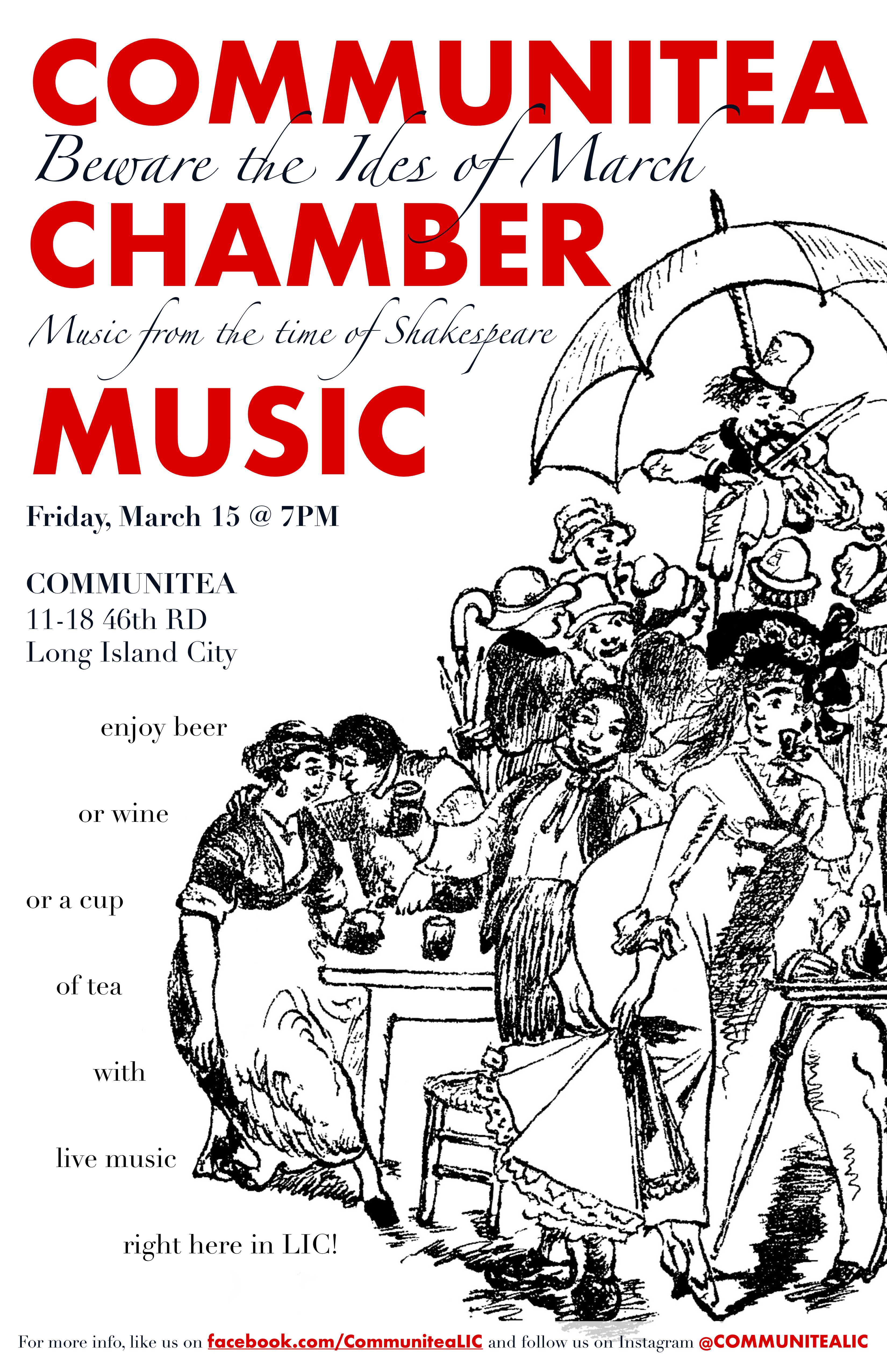Communitea Chamber Music Poster - March
