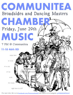 Communitea Chamber Music Poster - JUNE