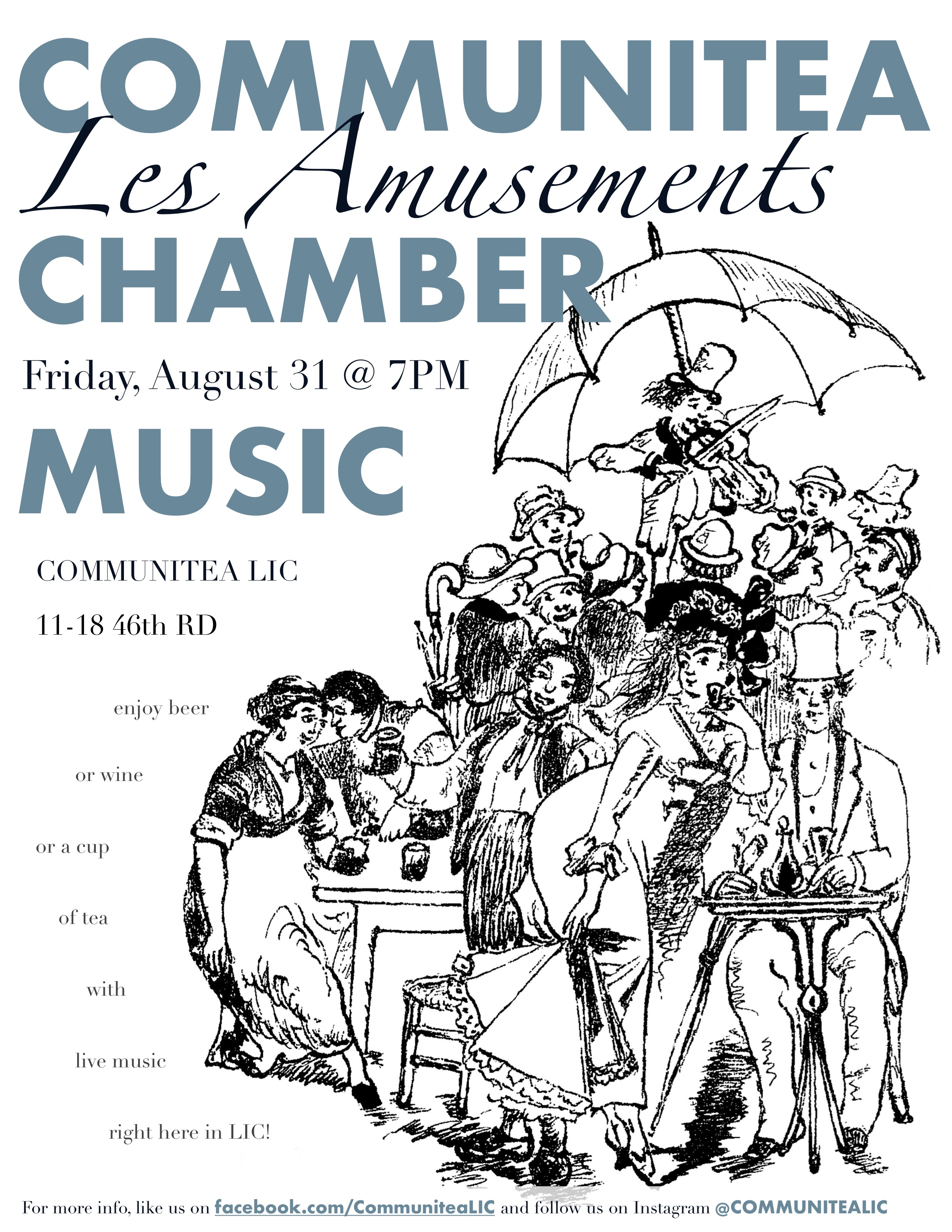 Communitea Chamber Music Poster - August