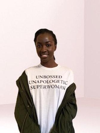 Unbossed White T-shirt