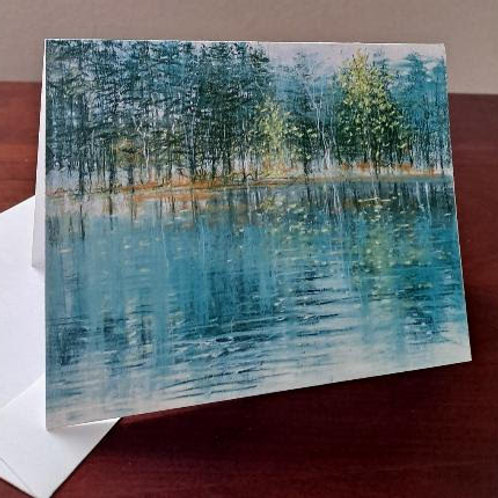 "4 ""Autumn Blue"" note cards"