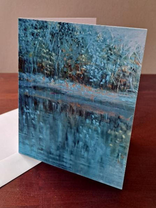 "4 ""Blue"" notecards"