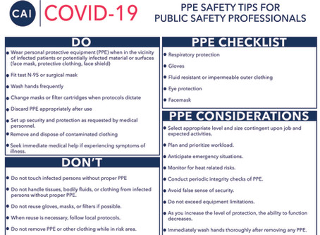 PPE Safety Tips for Public Safety Professionals