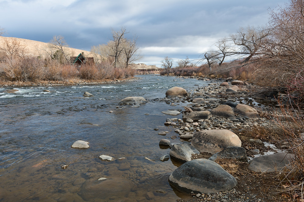 The Truckee River near Reno, Nevada