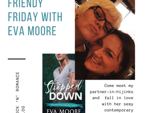 Friendy Friday with Eva Moore and GIVEAWAY! PLUS Bookstore Romance Day!