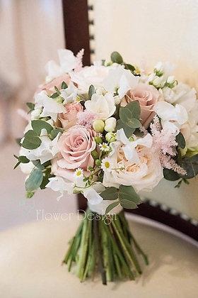 Букет невесты пудрово розовый