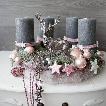 Новогодний венок со свечами