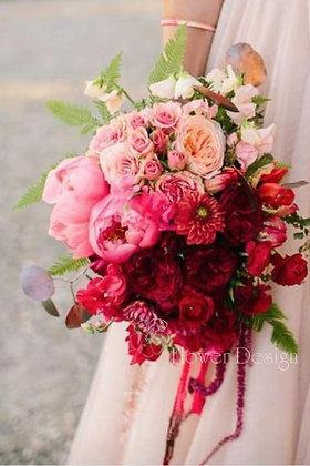 Букет невесты градиент