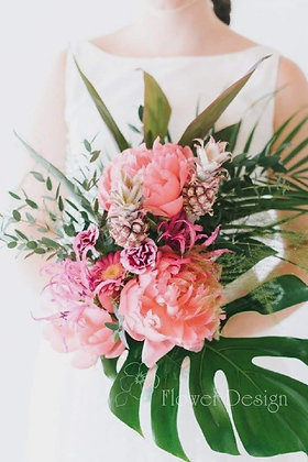Букет невесты тропический