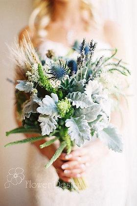 Букет невесты полевой с колосками пшеницы